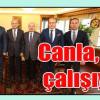 İl Başkanı Saylar Ve TSO Başkanı Özcan Bakan Fikri Işık İle Görüştü