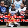 KAMU-SEN MEMUR MAAŞLARINI BORDRO YAKARAK PROTESTO ETTİ
