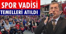 SPOR VADİSİ TEMELİ GÖRKEMLİ TÖRENLE ATILDI
