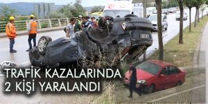 Karabük'te meydana gelen kazalarda 2 kişi yaralandı