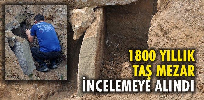 Bin 800 yıllık taş sandık mezar incelemeye alındı