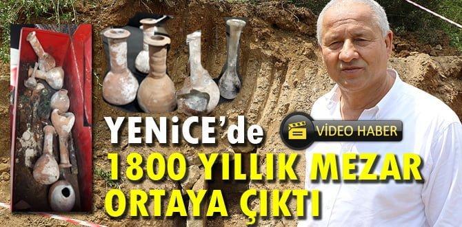 Belediyenin yol çalışmasında bin 800 yıllık mezar ortaya çıktı