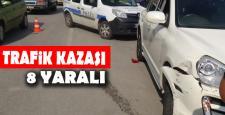 Karabük'te iki otomobil çarpıştı: 8 yaralı