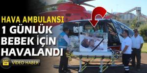 Yeni doğan ikizlerden biri hava ambulansı ile İstanbul'a sevk edildi