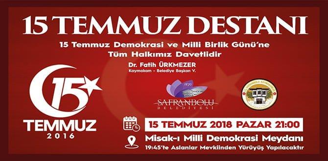 Safranbolu, 15 Temmuz Şehitlerini anacak