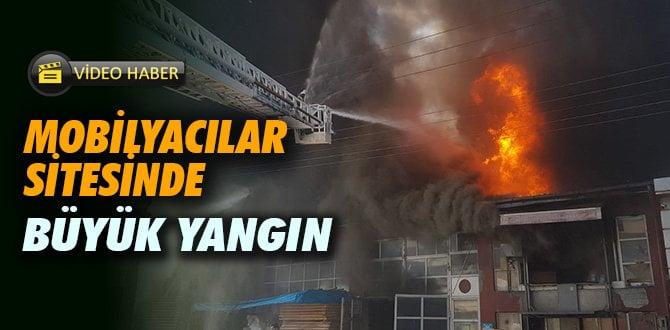 Karabük Bağ Essan Sanayi Sitesi'nde büyük yangın