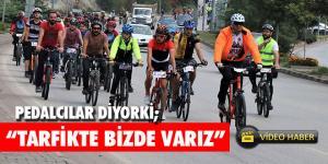 Karabük'te 'Trafikte bizde varız' temalı bisiklet turu