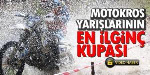 Motokros yarışları ilginç ödülleriyle ön plana çıktı