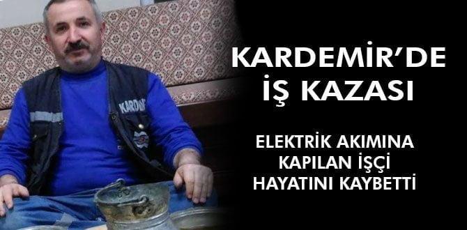 Yüksek voltaja kapılan işçi hayatını kaybetti