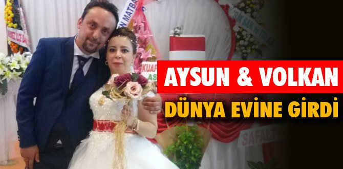 Aysun & Volkan Feyizoğlu görkemli törenle dünya evine girdi