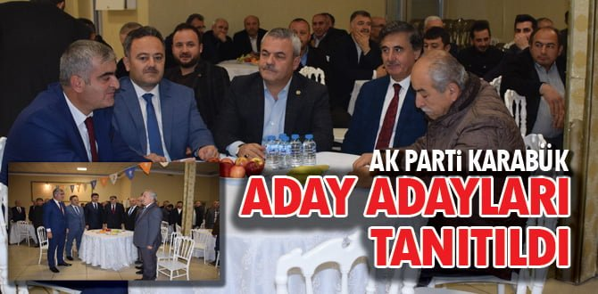AK Parti aday adaylarını tanıttı