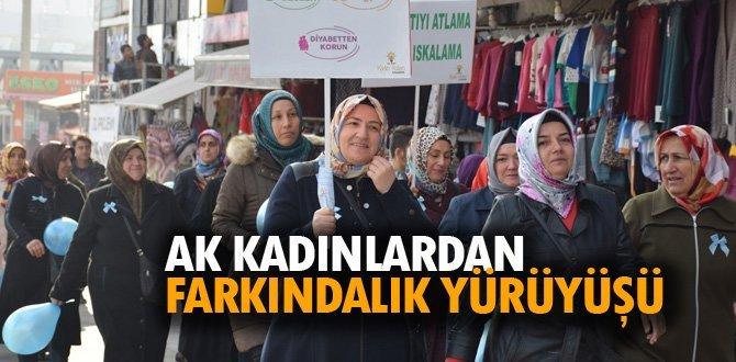 AK Parti İl Kadın Kolları'ndan diyabette farkındalık yürüyüşü