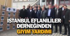 İstanbul Eflaniler Derneği'nden 80 öğrenciye giyim yardımı