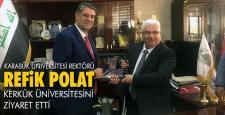 Rektör Polat, Kerkük Üniversitesini ziyaret etti