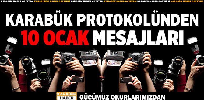 Karabük protokolünden ' 10 Ocak Çalışan Gazeteciler Günü' Mesajları