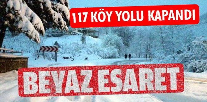 Karabük'te kardan 117 köy yolu ulaşıma kapandı