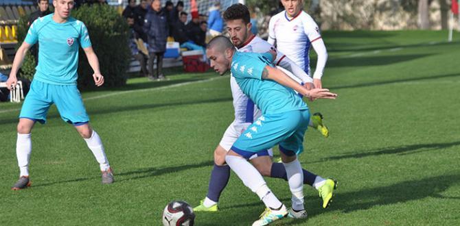 Karabükspor hazırlık maçında berabere kaldı