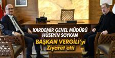Kardemir A.Ş'nin Yeni Genel Müdürü Soykan Başkan Vergili'yi Ziyaret Etti