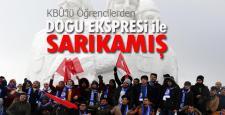 KBÜ'lü Öğrencilerden Doğu Ekspresi ile Sarıkamış'a Yolculuk