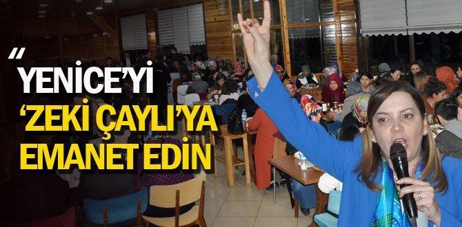 MHP Milletvekili Arzum Erdem Yenice'de
