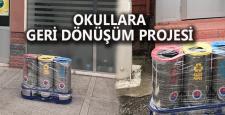 Karabük Belediyesi tarafından okullara geri dönüşüm üniteleri dağıtıldı