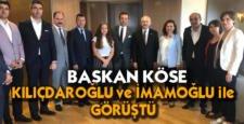 Başkan Köse, Kılıçdaroğlu ve İmamoğlu ile görüştü