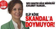 CHP'Lİ ELİF KÖSE SKANDALA DOYMUYOR