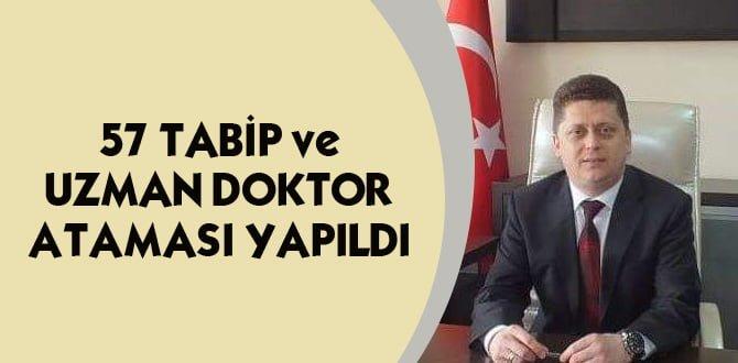 Karabük'e 54'ü tabip 3'ü uzman sağlık personeli atandı