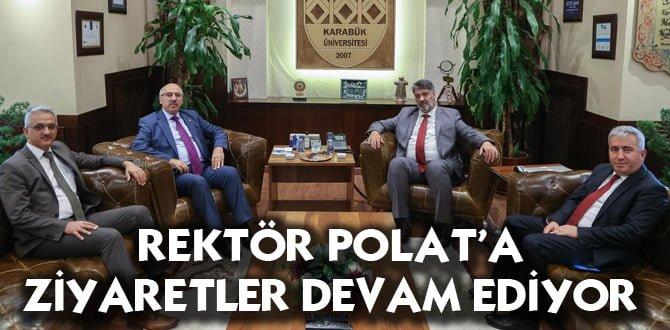 İstanbul Üniversitesi Rektörü Ak, Rektör Polat'a başarılar diledi