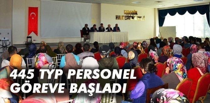 Karabük'te 445 TYP personel göreve başladı