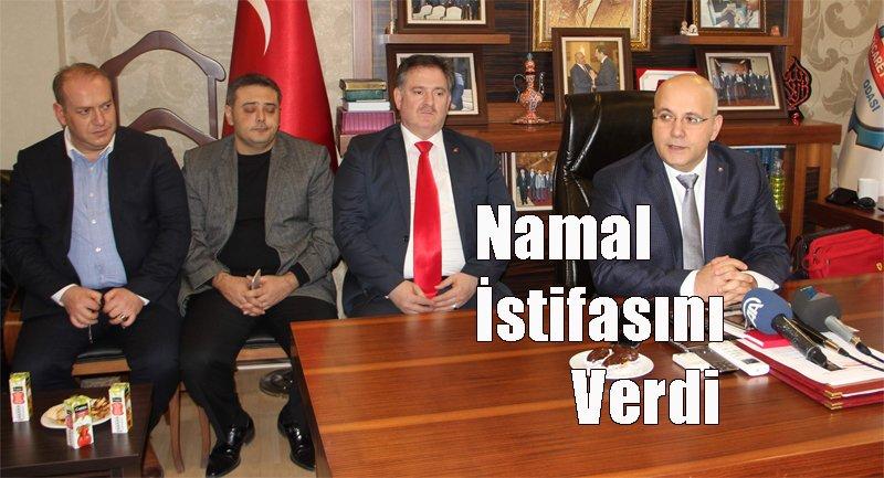 NAMAL İSTİFASINI VERDİ!