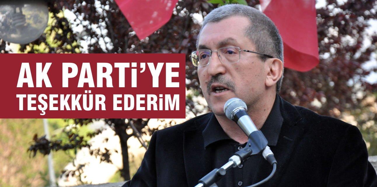 AK PARTİ'YE TEŞEKKÜR EDERİM