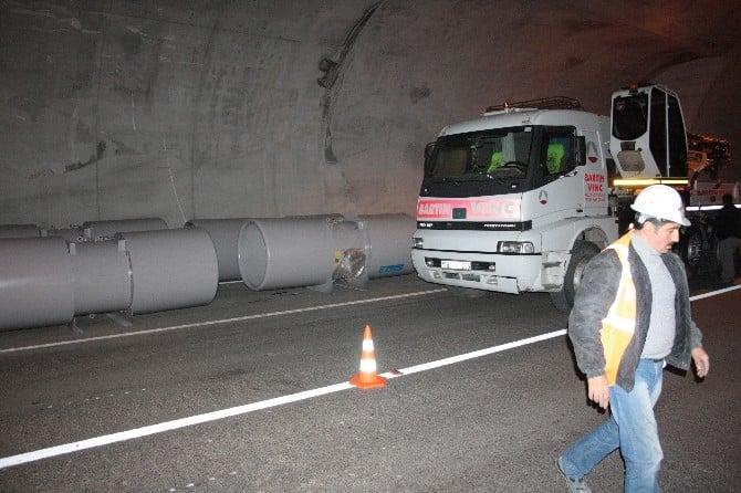 Amasra Tüneli'nin Fanları Takılıyor