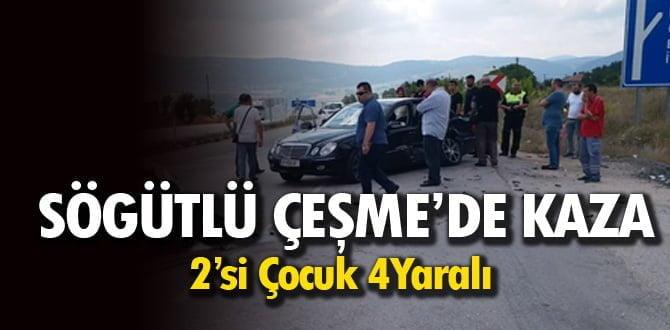 Karabük'te trafik kazası: 2'si çocuk 4 yaralı