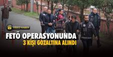 Karabük merkezli 2 ilde FETÖ operasyonunda 3 kişi gözaltına alındı