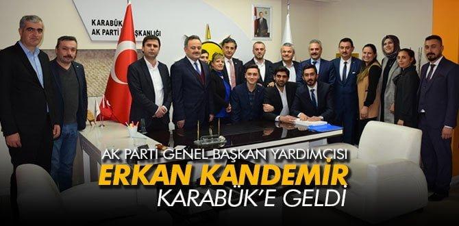 Ak Parti Genel Başkan Yardımcısı Kandemir Karabük'e Geldi
