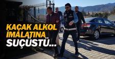 Kaçak alkol imalatına suçüstü: 2 gözaltı