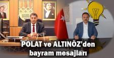 Rektör Polat ve Başkan Altınöz'den bayram mesajı