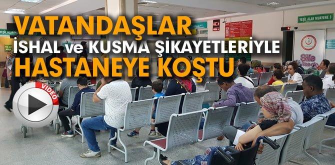 VATANDAŞLAR HASTANEYE KOŞTU..!
