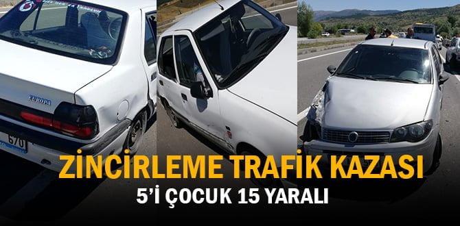 Karabük'te zincirleme trafik kazası: 15 yaralı