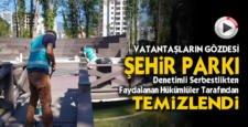 Vatandaşların gözdesi Şehir Parkı hükümlüler tarafından temizlendi