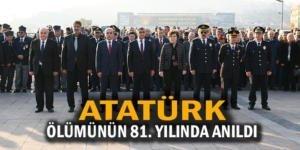 Atatürk ölümünün 81. yılında Karabük'te anıldı