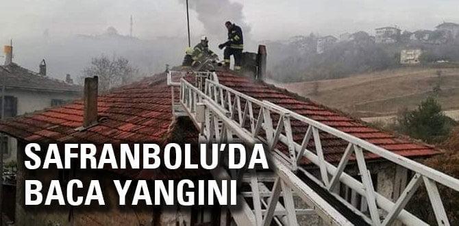 Safranbolu'da baca yangını korkuttu