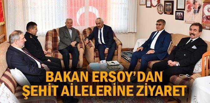 Bakan Yardımcısı Ersoy'dan şehit ailelerine ziyaret