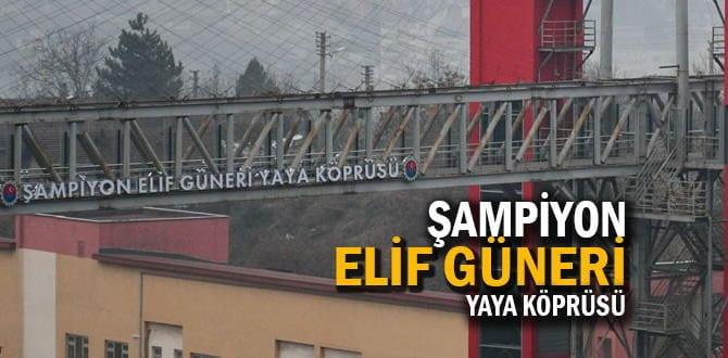 Avrupa Boks Şampiyonu Güneri'nin adı yaya köprüsüne verildi